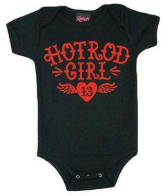 Hot Rod Girl Baby Onesie - click to enlarge/shrink