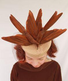 Caspar-Davis style double faux bird felt tilt hat