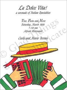 italian themed party kids birthday invitations girls boys boys girls sweet 16 invitations