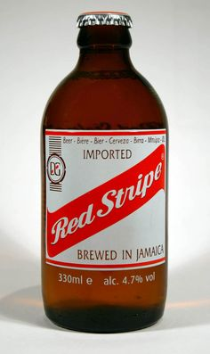 Jamaican Lager- Red Stripe is Jamaican for beer. Commonly ordered as; Gimme ah hat beer! That's means Red Stripe at room temperature. Ah so it go!