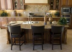 A kitchen island with seating could likely be the primary dining location. Description from home-style-choices.com. I searched for this on bing.com/images