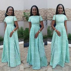An is a wedding guest {bella} looking stunning in aso-ebi – the fabric/colours of the day, at a - BellaNaija Weddings. African Fashion Ankara, Ghanaian Fashion, African Print Dresses, African Dress, African Prints, African Style, Naija, Lace Skirt And Blouse, Culture Clothing
