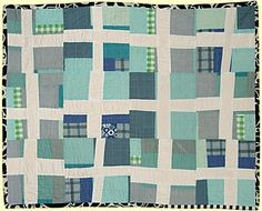 "Sarah Nishiura: Small Untitled #2, 2007, 30"" x 37"", 100% cotton, machine pieced, hand quilted"