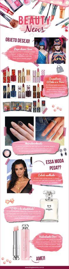 Beauty News: lançamentos em cosméticos e as últimas da moda - Blog da Mimis #wiredworknails #wethair #abelaeafera #beauté #cosmético #chanel #n5