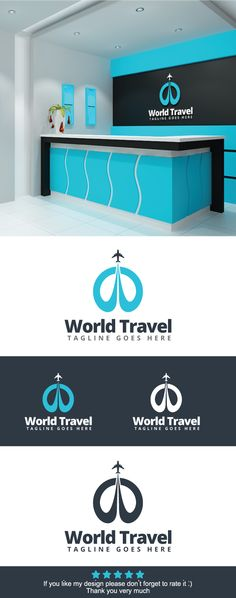 World Travel Logo on Behance