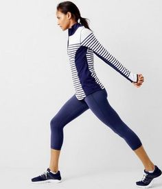 77eede7264 New Balance for J Crew in-transit pullover in stripe How To Wear Leggings,