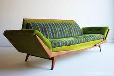 Mid Century Modern Adrian Pearsall Lime Sofa for Craft Associates