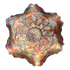 Shop decorative bowls at Chairish, the design lover's marketplace for the best vintage and used furniture, decor and art. Fenton Glassware, Antique Glassware, Glassy Eyes, Rose Bowl, Glass Company, Carnival Glass, Milk Glass, Colored Glass, Decorative Bowls