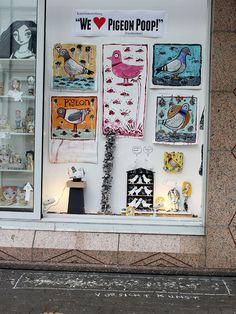 """We ♥ Pigeon Poop"""" Art Exhibition. Charles Kaufman. Heidelberg, Germany. #pigeon #poop #heidelberg #germany #art #kunst #malerei"""