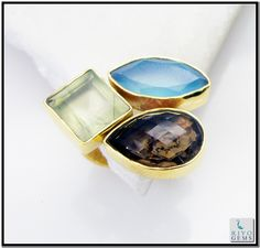 Multi Red Onyx Gems 18.Kt Yellow Gold Plated Birthstones Ring Sz 6 Gprmul6-5220 http://www.riyogems.com