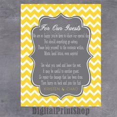 Wedding Modern Bathroom Basket Note/Sign by DigitalPrintShop, $3.99