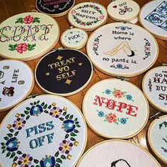 Original Cheeky Cross Stitch Art & Patterns by stephXstitch
