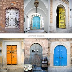 love these colored doors
