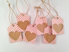 Pink Polka Dot Gift Tags by OccasionalGoods on Etsy
