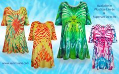 be59fb6b16ae6 Plus Size Tie Dye Items! T-Shirts - Dresses - Jeans - Pants - Skirts