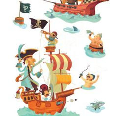 Wall Stickers, Pirates by Moolka.com