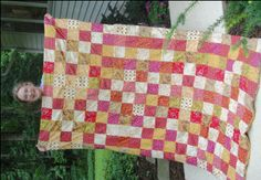 Kelly follows directions from our my first quilt directions but doubles it to make a very large quilt.