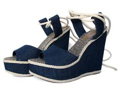 DIY Denim wedges...srsly! Check this out.