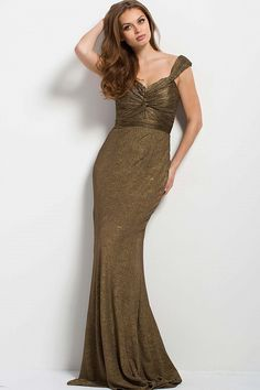 Buy the 45156 Ruched Off-Shoulder Sheath Dress by Jovani at  CoutureCandy.com 86270473b