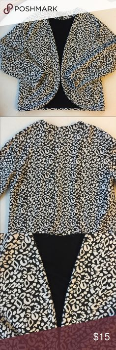 Animal Print Blazer Super funky animal print black and white blazer! Dress up any boring outfit with this baby.   #jcrew #madewell #zara #forever21 #h&m #sweater #jacket #cardigan #blazer #comfortable #cheetahprint #leopardprint #animalprint H&M Jackets & Coats Blazers