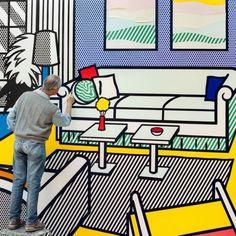 Roy Lichtenstein © dans son atelier