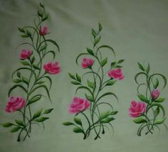 Fabric Colour Painting, Dress Painting, Mural Painting, Fabric Painting, Paintings, Hand Embroidery Patterns Flowers, Embroidery Works, Hand Embroidery Designs, Saree Painting Designs