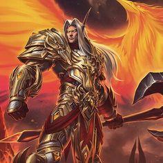 Symphony of Silvermoon: Battle for Sunstrider Isle, Firion & Luneth, Todor Hristov Elves Fantasy, Fantasy Armor, Fantasy Weapons, World Of Warcraft Game, Warcraft Art, Elf Characters, Fantasy Characters, Skyrim, Warrior Drawing