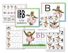 Letter B for Ballerina: Free Preschool Printables - Confessions of a Homeschooler Preschool Letters, Preschool At Home, Free Preschool, Preschool Themes, Preschool Printables, Preschool Learning, Teaching Kids, Kindergarten Themes, Teaching Reading