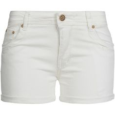 Madonna Damen Jeans Short RENISE 10-628-B mit Aufschlag 5-Pocket weiss (235 SEK) ❤ liked on Polyvore