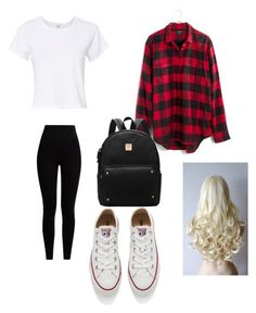 """school day #32"" by madison-kohut on Polyvore featuring RE/DONE, Madewell, Pepper & Mayne and Converse"