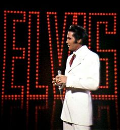 "Elvis June 30 1968 filming the sequence of the ending of his NBC TV Special ""If I Can Dream""."