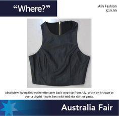 Australia Fair Ally Fashion Leather Racer Back Crop