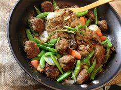 Stir Fry Noodles with Pork Meatballs, Beef and Vegetables | Quirk Books : Publishers & Seekers of All Things Awesome