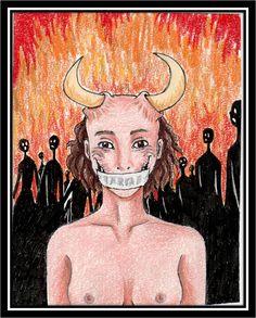 """Así lo ilustraban. F.T: Thomas Ott """"In hell"""" 2012"""