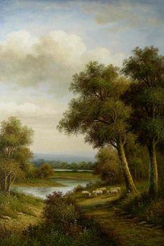 Landscape Oil Painting | classical landscape oil painting 031 classical landscape oil painting ...