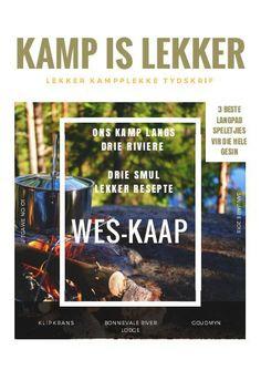 Kamp-is-Lekker Jan 2018: Discover Magazine, Jan 2018, Magazines, Places, January, Journals, Lugares