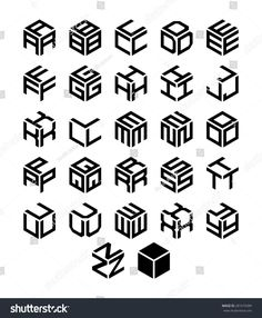 Find Cubic Alphabet Set Vector Geometric Font stock images in HD and millions of other royalty-free stock photos, illustrations and vectors in the Shutterstock collection. Thousands of new, high-quality pictures added every day. Graffiti Lettering, Typography Logo, Hand Lettering, 3 Logo, Typography Drawing, Typography Letters, Fonte Alphabet, 3d Alphabet, Alphabet Fonts