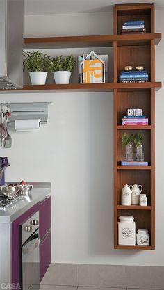 9 cozinhas para amar - Casa ideia para a porta do corredor