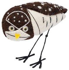 Charley Harper Felt Bird Sculpture :: Burrowing Owl