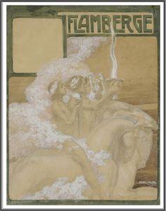 """Anto Carte (1886-1954), Projet de couverture pour la revue """"Flamberge"""" - 1912"""