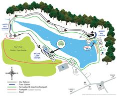 Map of Ruislip Lido