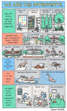 Grant Snider of Incidental Comics explains the true nature of introverts