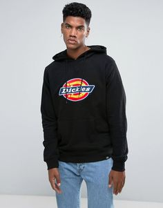 Get this Dickies's dungaree now! Click for more details. Worldwide shipping. Dickies Nevada Hoodie With Large Logo in Black - Black: Hoodie by Dickies, Soft-touch sweat, Drawstring hood, Dickies logo, Over-the-head style, Pouch pocket, Fitted trims, Regular fit - true to size, Machine wash, 85% Cotton, 15% Polyester, Our model wears a size Medium and is 183cm/6'0 tall. Dickies is the definition of a heritage brand. C.N. Williamson and EE 'Colonel' Dickie began their careers in the vehicle…