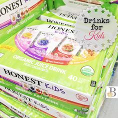 How to Select Healthy Drinks for Kiddos!