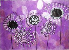 Atelier 30 :: reserver votre livret coaching :: Base : black & white with one other color. Club D'art, Art Club, Art Floral, Art 2nd Grade, Classe D'art, School Art Projects, Kindergarten Art, Spring Art, Art Lessons Elementary