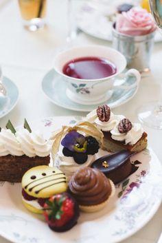 Tea- no recipes, but a very inspirational picture- most items seem easy to duplicate- like the garnishes on each