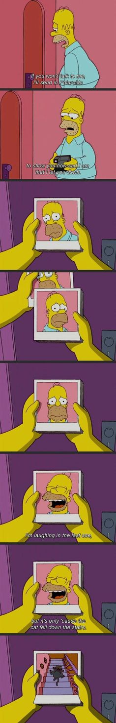 the simpsons, television, homer simpson jajajaa Simpsons Funny, Simpsons Quotes, The Simpsons, Funny Jokes, Hilarious, Funny Cartoons, Just For Laughs, Laugh Out Loud, Jokes