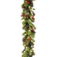 National Tree Co. Crestwood Spruce Pre-Lit Garland
