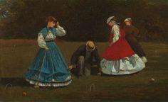 Winslow Homer American, 1836-1910  Croquet Scene, 1866