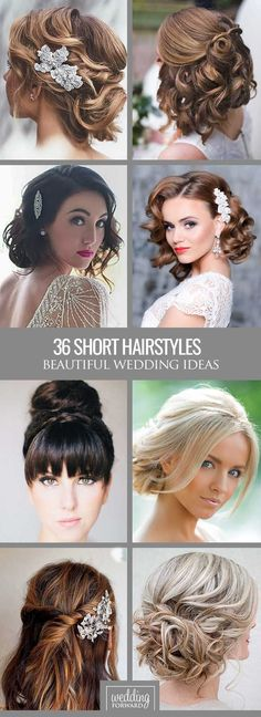 nice 36 Short Wedding Hairstyle Ideas So Good You'd Want To Cut Your Hair ❤ If your...